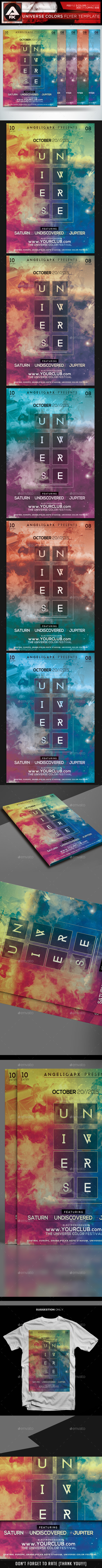 Universe Colors Flyer Template - Flyers Print Templates