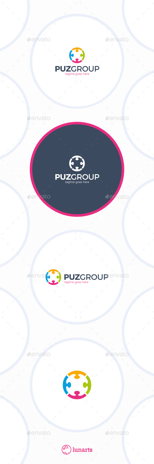 Puzzle Community Logo - Group Circle - Symbols Logo Templates