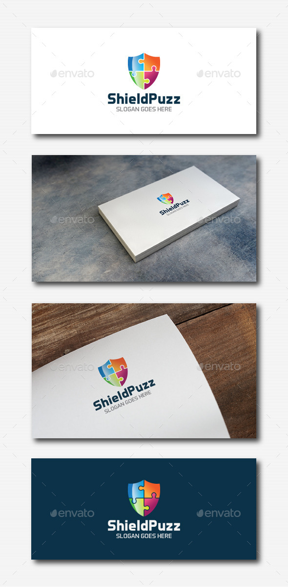 Shield Puzzle Logo - Abstract Logo Templates