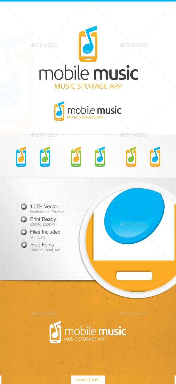 Mobile Music Logo - Symbols Logo Templates