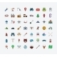 Camping Flat Vector Icon Set - GraphicRiver Item for Sale