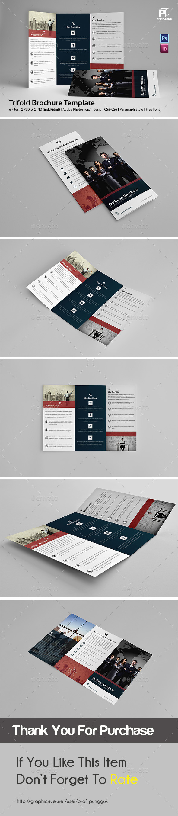 Business Trifold Vol.4 - Corporate Brochures