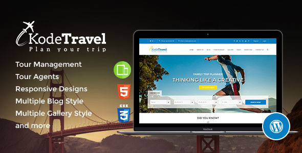 KodeTravel & Tourism WordPress Theme