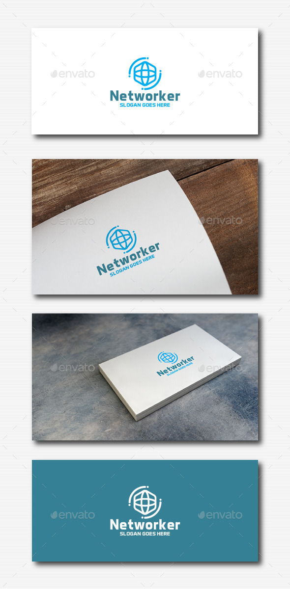 Network Hexagon Logo - Abstract Logo Templates