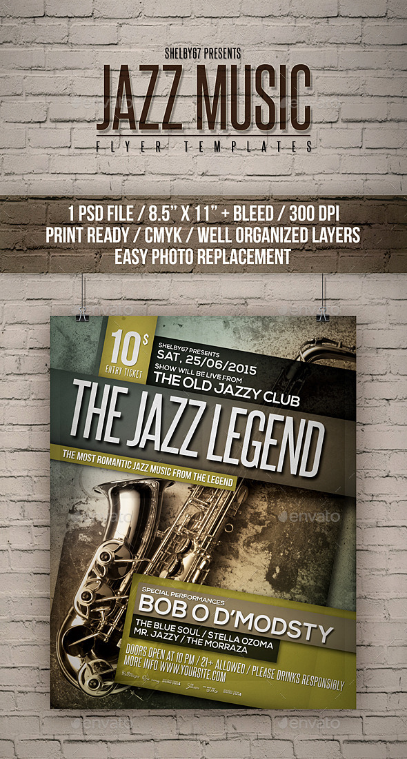 Jazz Music Flyer Templates - Events Flyers