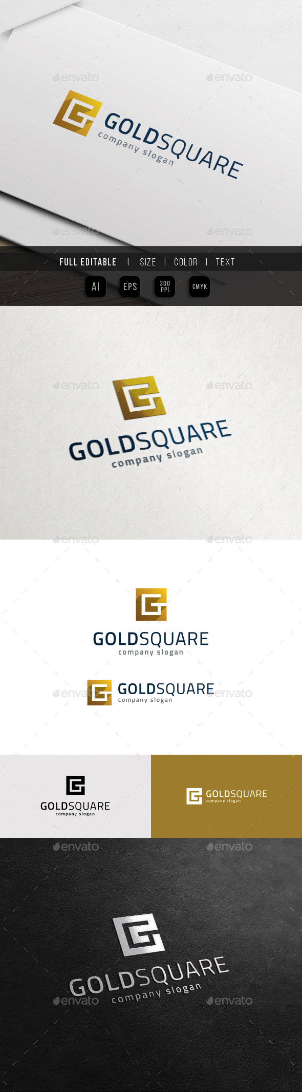 G Logo - Golden Square Group - Letters Logo Templates