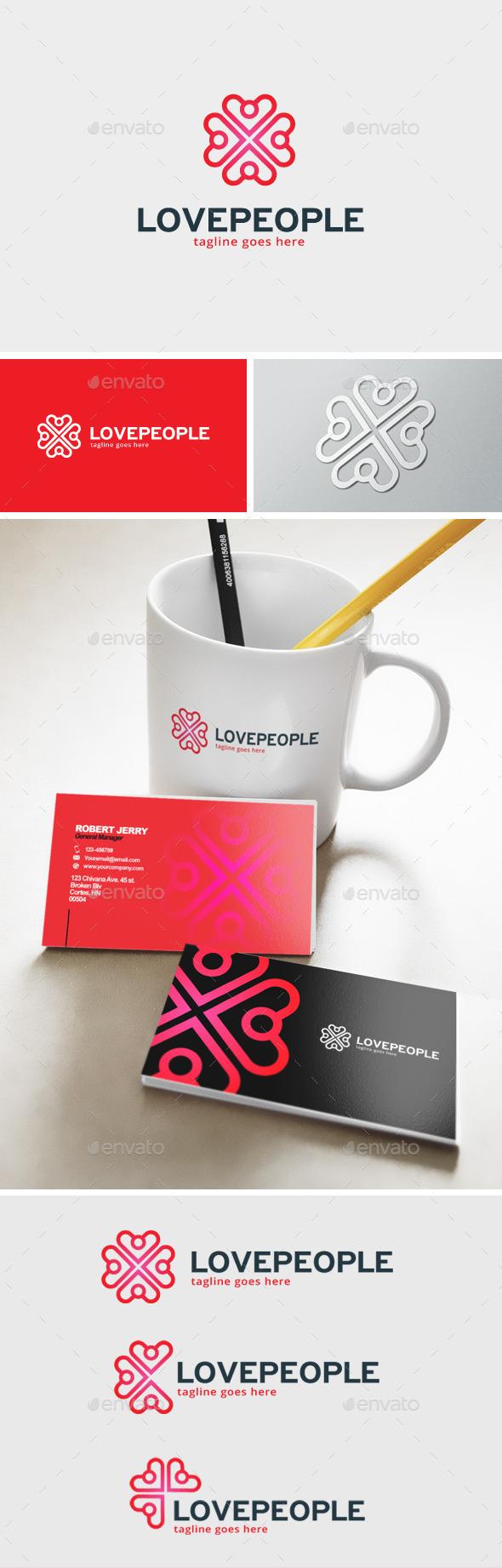 Love People Logo - Humans Logo Templates