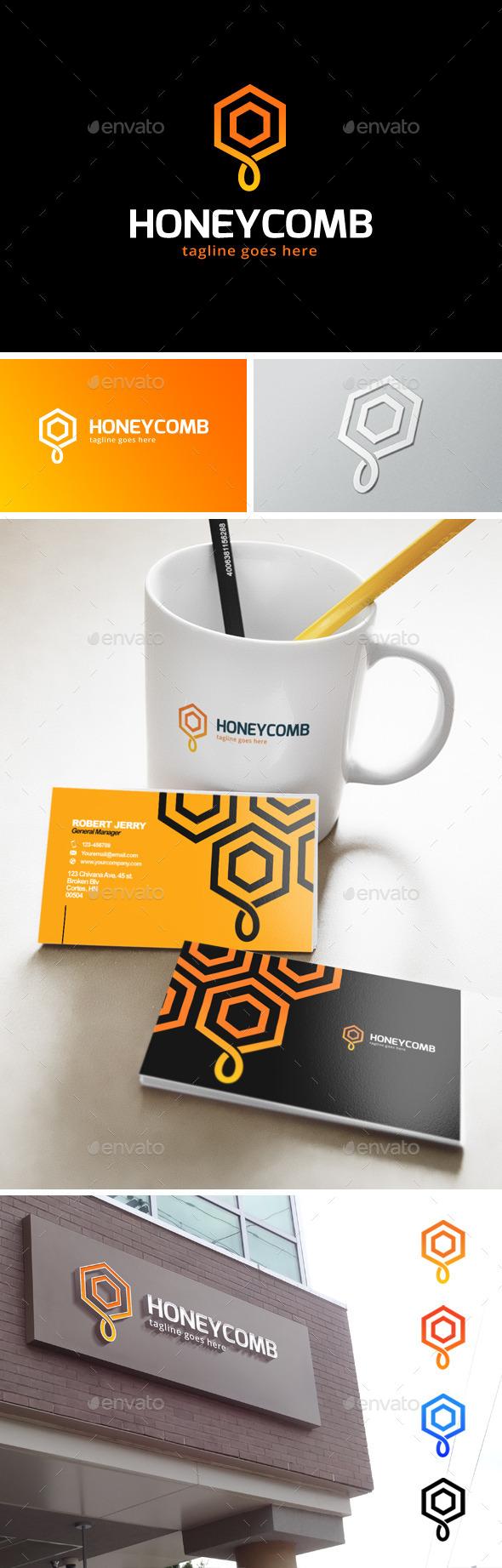 Honey Logo - Nature Logo Templates
