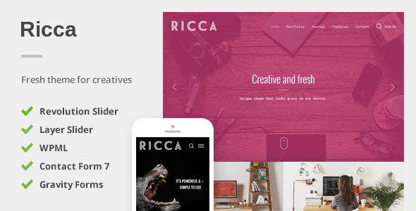 Ricca – A Fresh Responsive Theme For Creatives