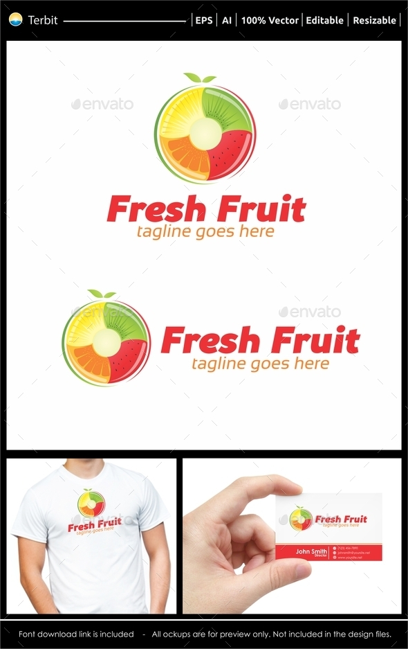 Fresh Fruit Logo - Food Logo Templates