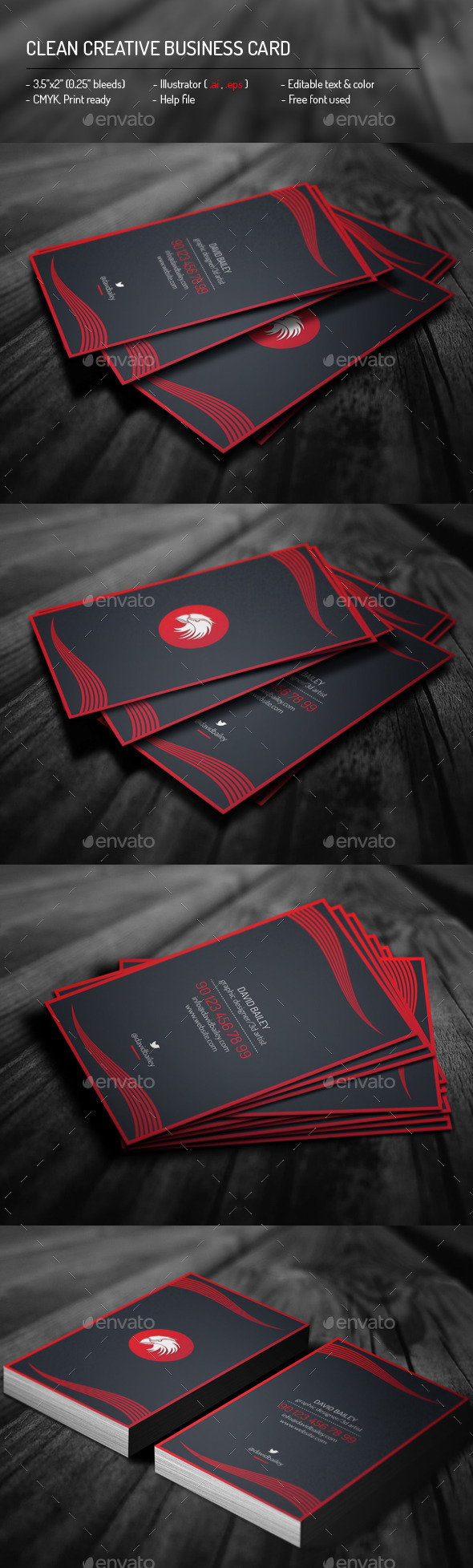 Clean Creative Business Card - Creative Business Cards