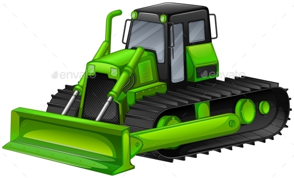 Bulldozer - Objects Vectors