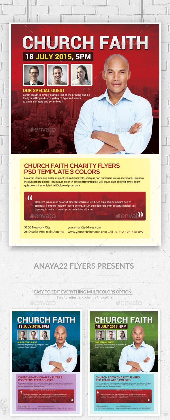 Church Flyer Psd Template - Clubs & Parties Events