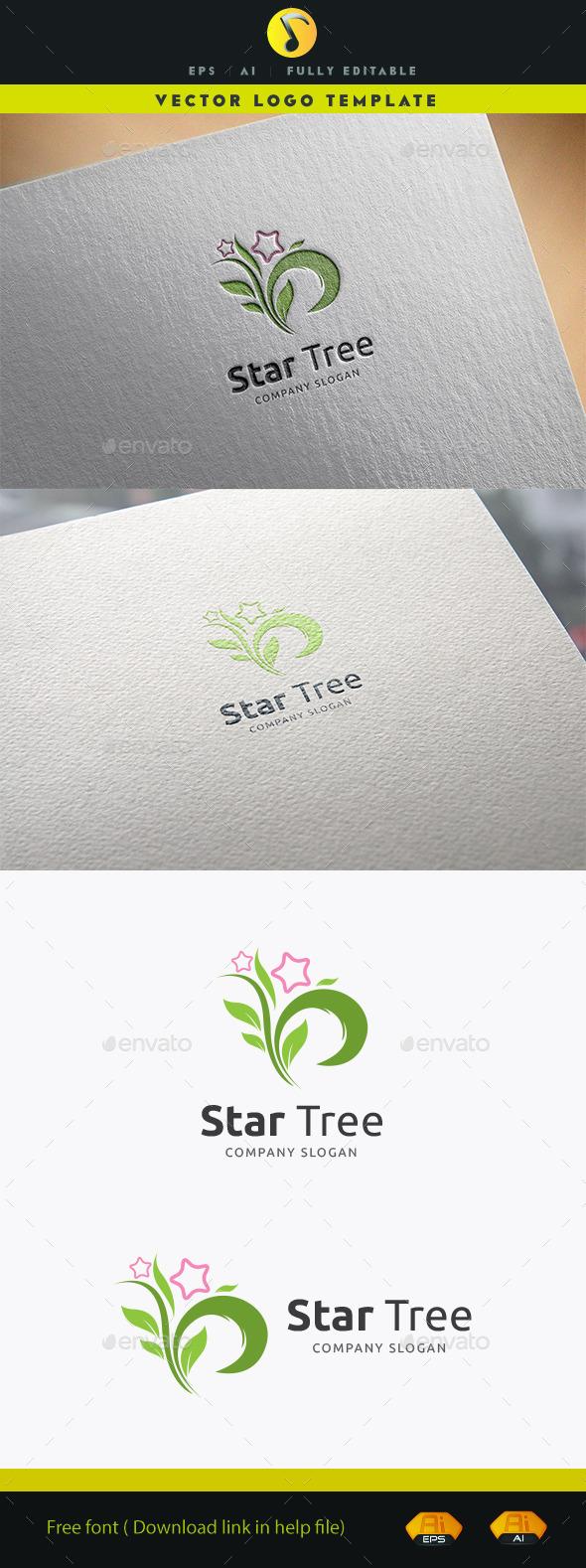 Star Tree - Nature Logo Templates