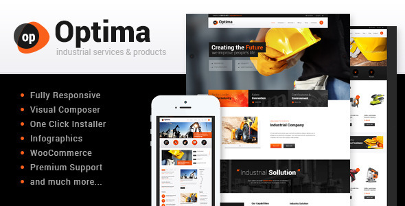 Optima | Industrial WordPress Theme - Business Corporate