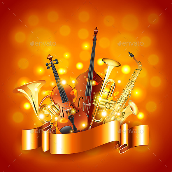 Musical Instruments Vector Background - Miscellaneous Vectors
