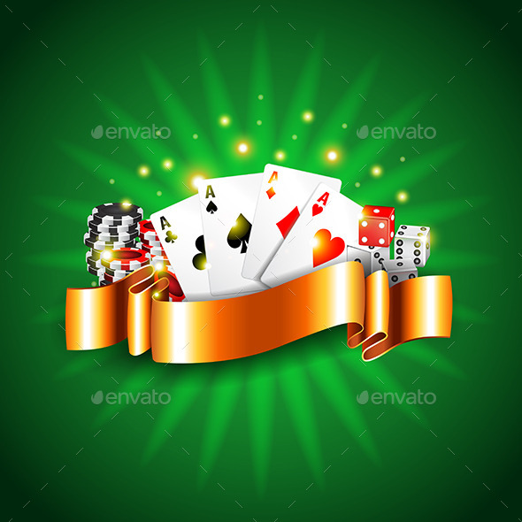 Luxury Casino Background with Cards Vector - Backgrounds Decorative