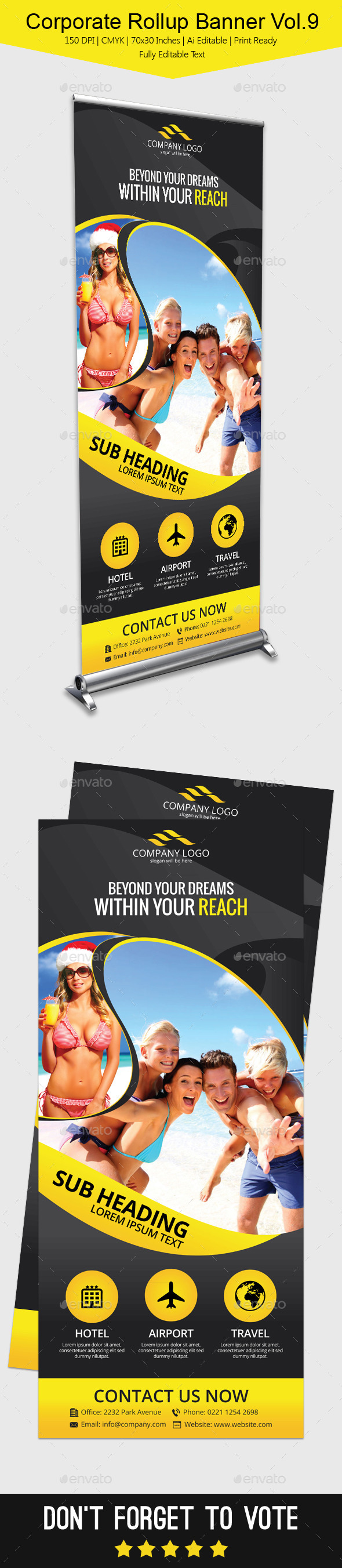 Corporate Rollup Banner Vol.9 - Signage Print Templates