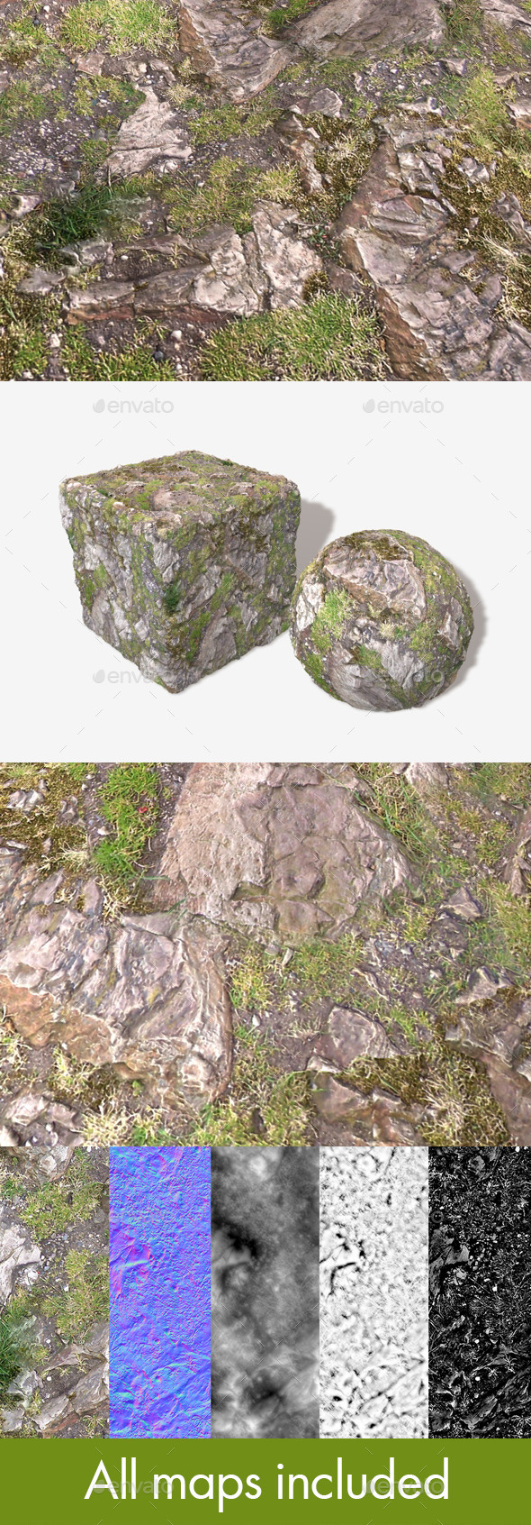 Rocky Hillside Seamless Texture - 3DOcean Item for Sale