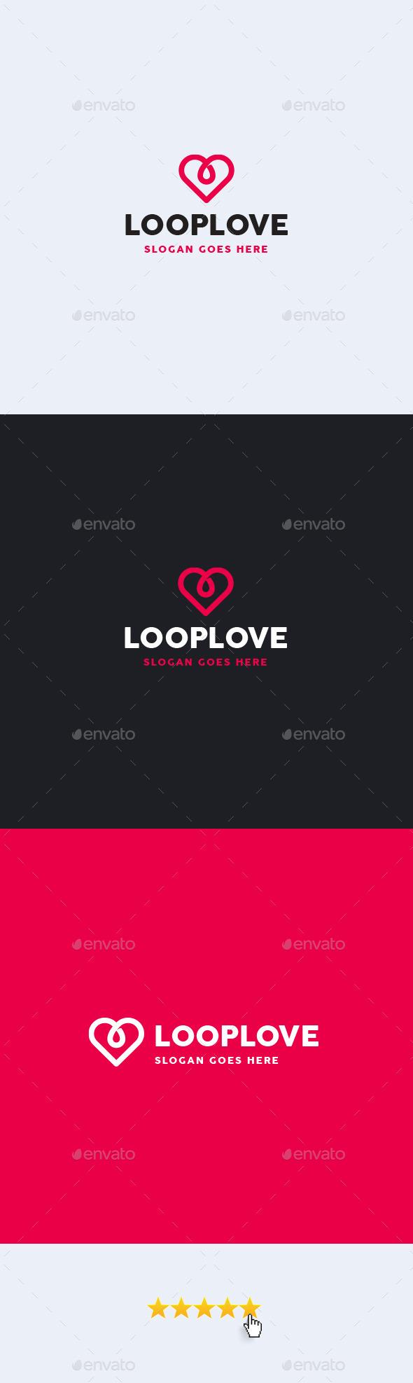 Loop Love Logo Template - Symbols Logo Templates