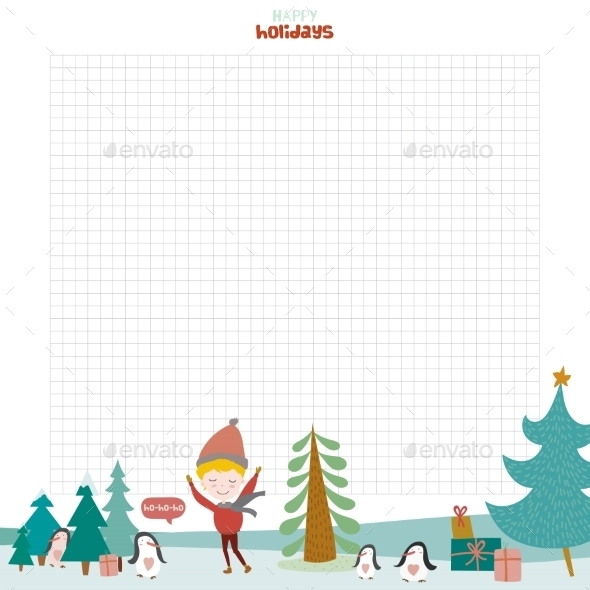 Christmas Design For Notebook, Diary, Organizers - Christmas Seasons/Holidays