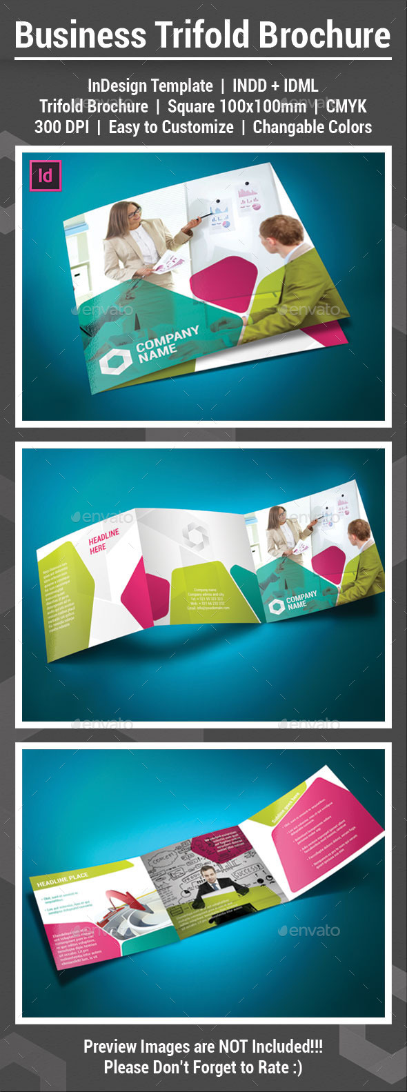 Square Trifold Brochure - Informational Brochures