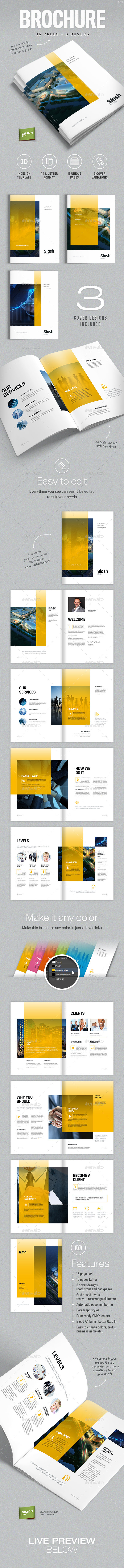 Brochure Template A4 and Letter - Slash - Corporate Brochures