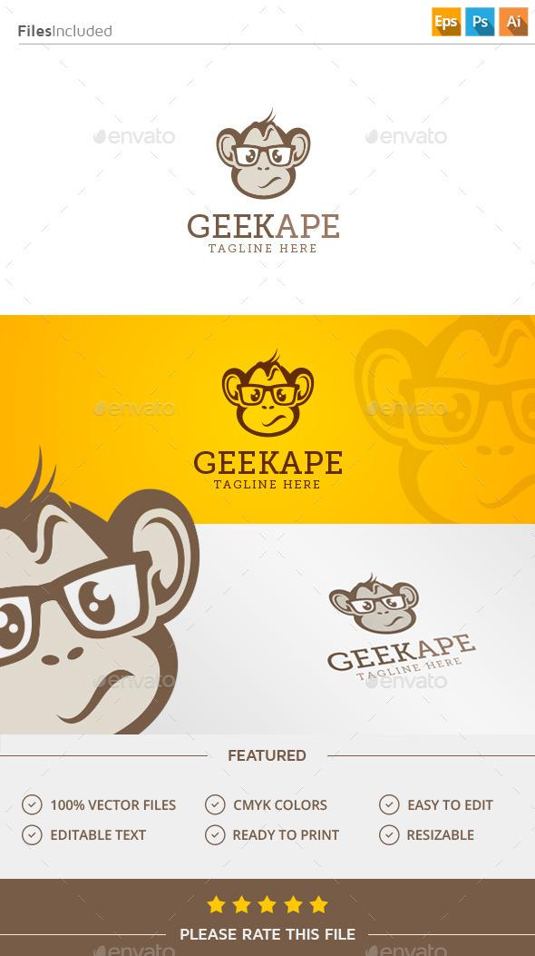 Geek Monkey Logo - Animals Logo Templates