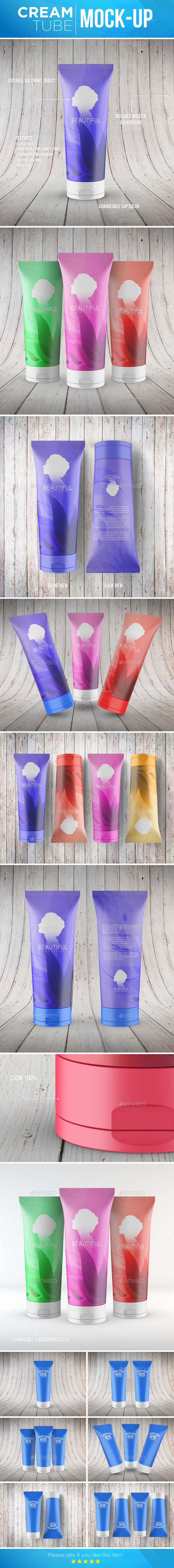Cream Tube Mock-Up - Beauty Packaging