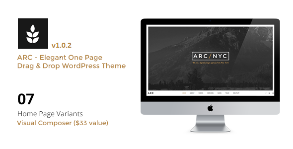 ARC – Elegant Creative One Page WordPress Theme
