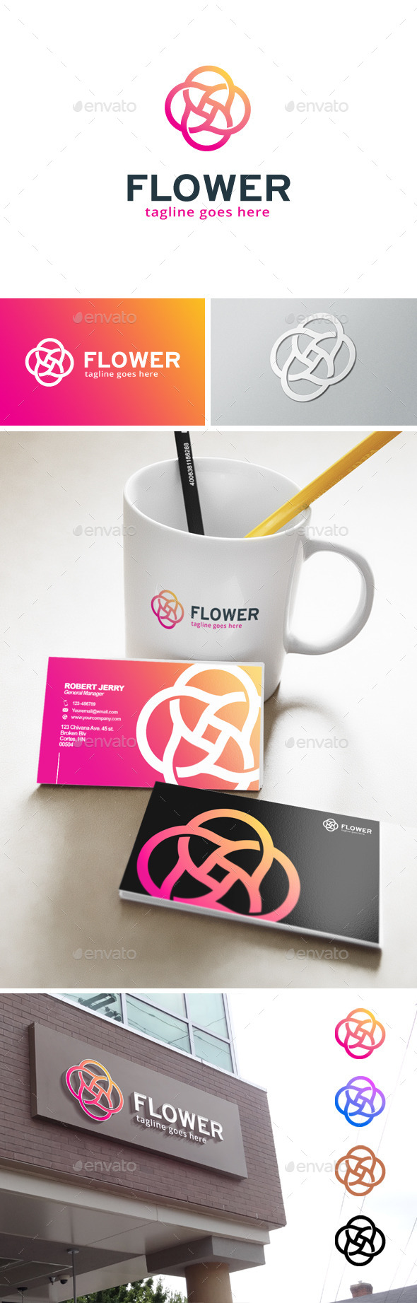 Flower Circle Logo - Abstract Logo Templates
