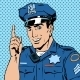 Police Officer Warns Draws Attention Profession - GraphicRiver Item for Sale
