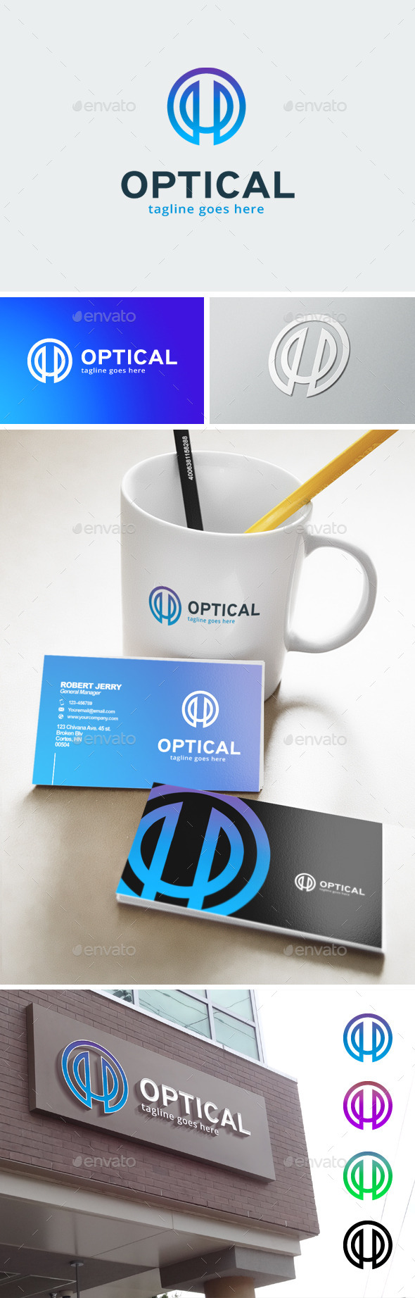 Letter O Logo - Optic - Abstract Logo Templates