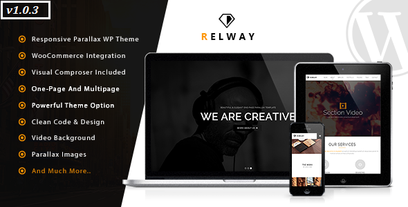 Relway – Responsive Parallax One Page WP Theme