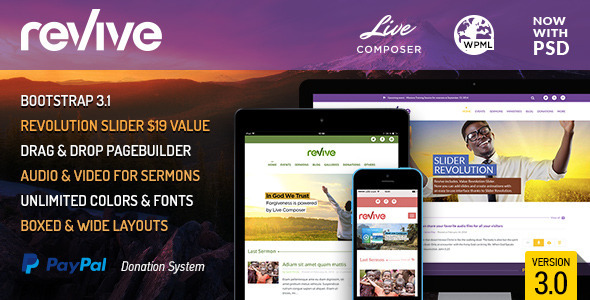 Revive: Events & Donations WordPress Theme