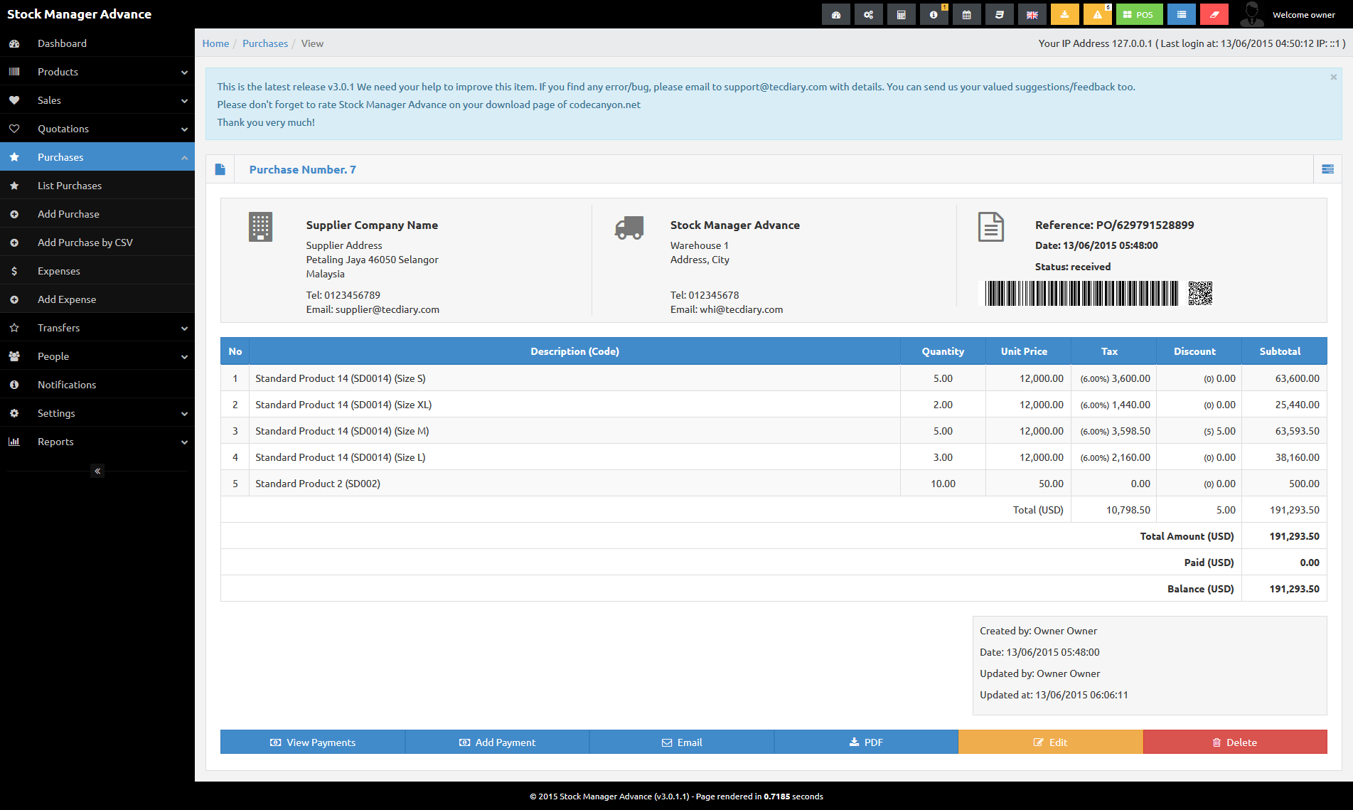 stock manager advance invoice inventory system by tecdiary