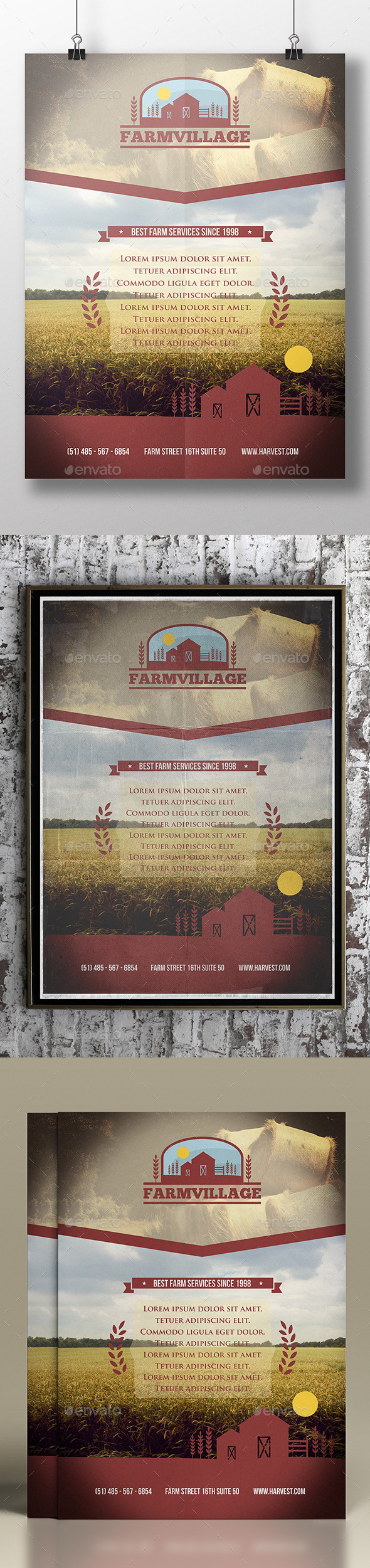 Agriculture Corporate Flyer Template - Corporate Flyers