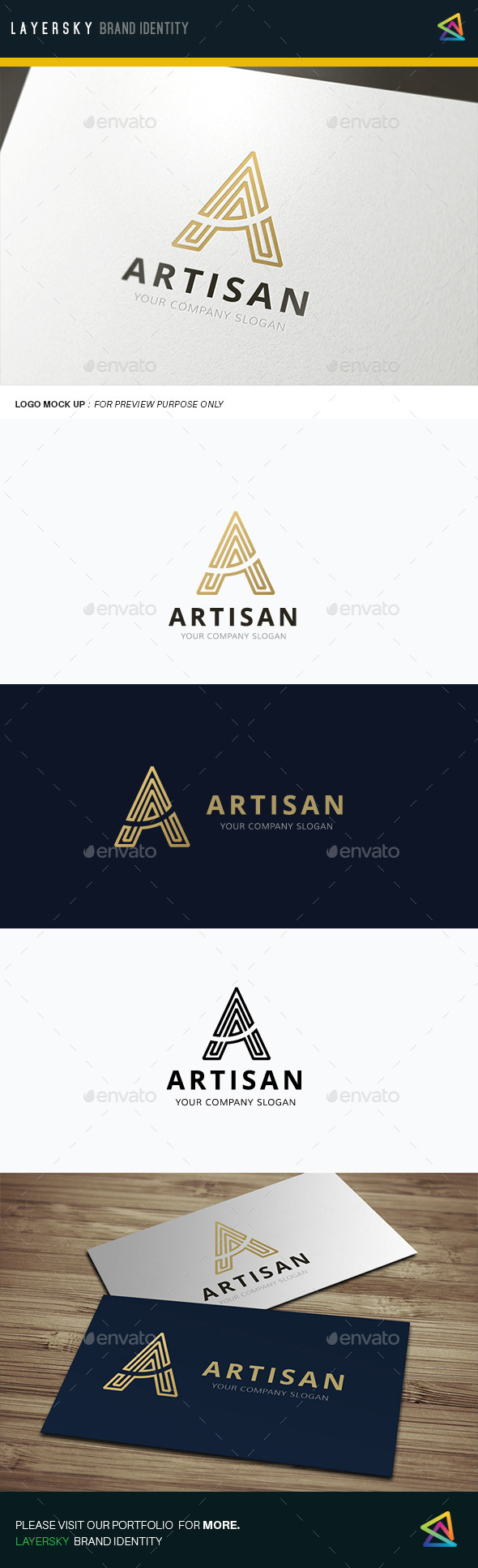 A Letter Artisan - Letters Logo Templates