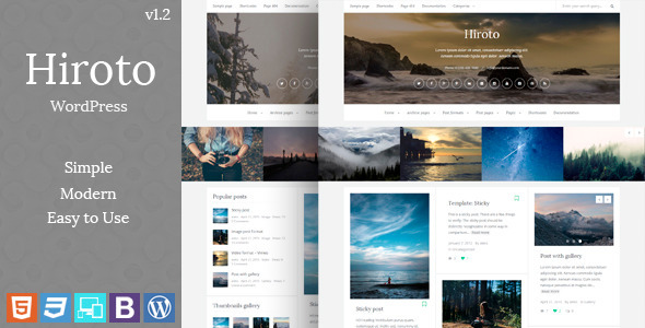 Hiroto - Responsive WordPress Blog Theme