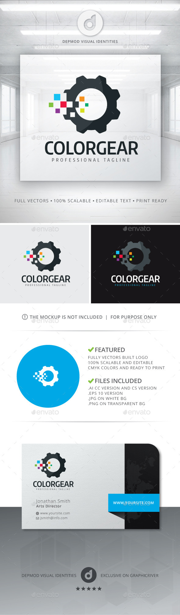 Color Gear Logo - Objects Logo Templates