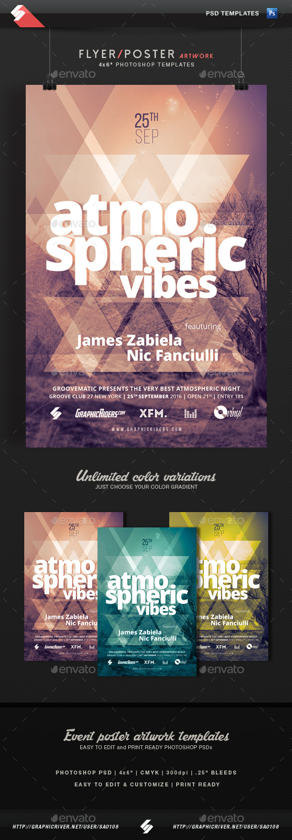 Atmospheric Vibes - Event Flyer Template - Clubs & Parties Events
