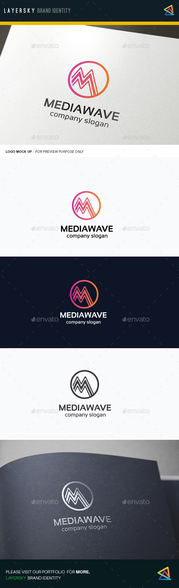 Media Wave - Letters Logo Templates