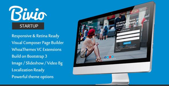 Bivio – Bootstrap 3 App Landing Page WordPress
