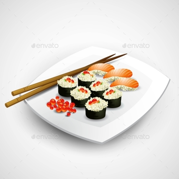Sushi Plate - Food Objects