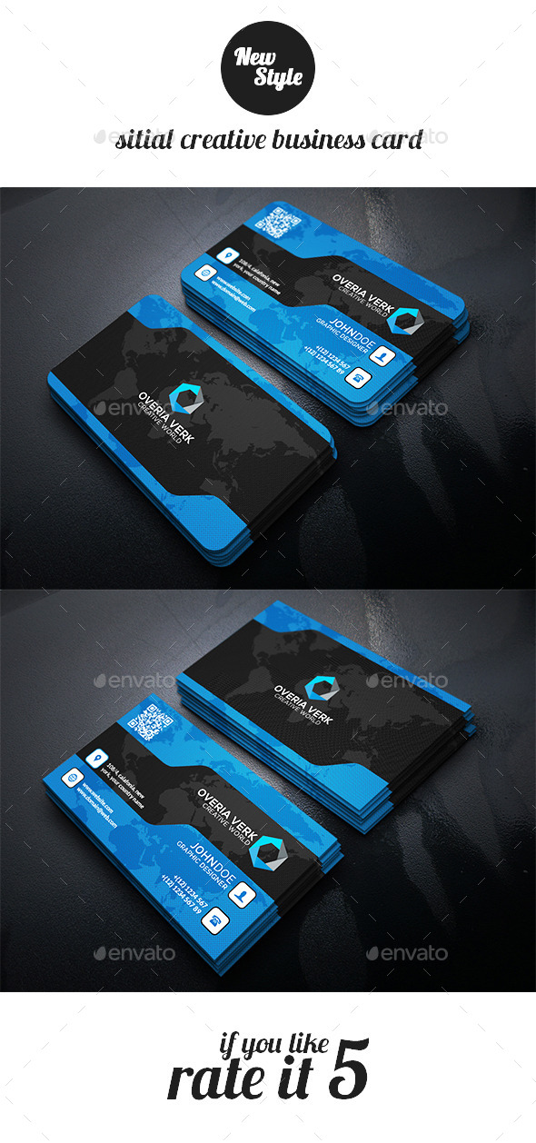 Sitial Creative Business Card Template - Business Cards Print Templates