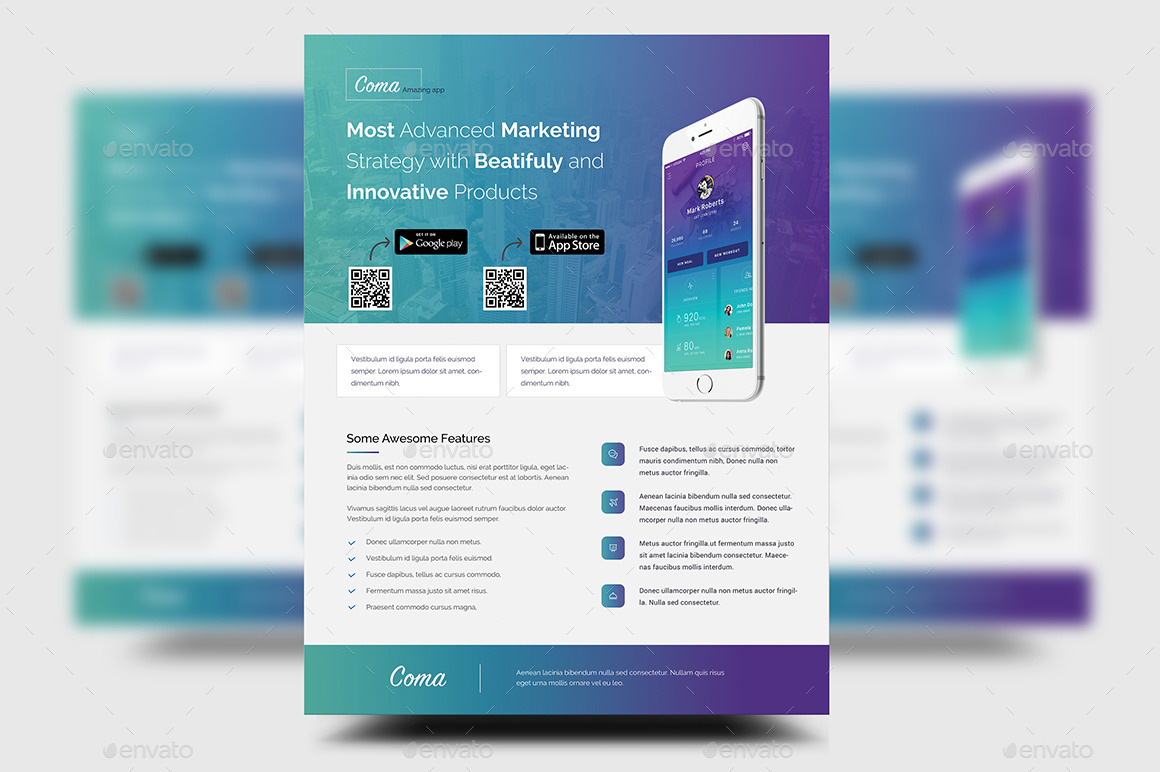 mobile app promotion flyer templates by rtralrayhan graphicriver