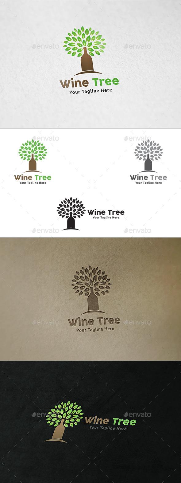Wine Tree - Logo Template - Nature Logo Templates