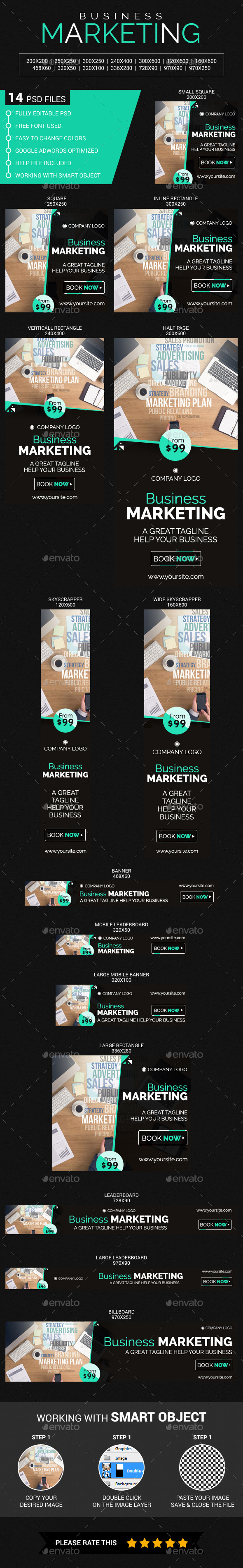 Business Marketing - Banners & Ads Web Elements