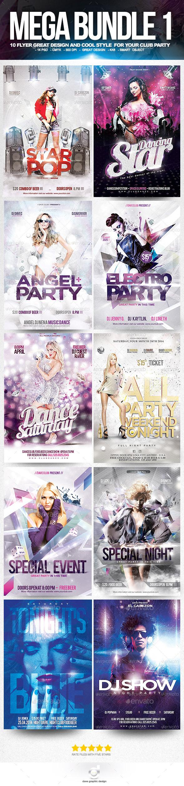 Mega Bundle Flyer Club Party  - Clubs & Parties Events