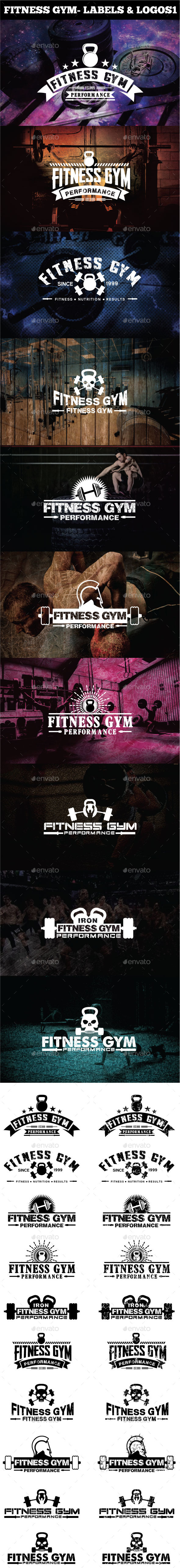 Fitness Gym - Labels & Logos - Badges & Stickers Web Elements